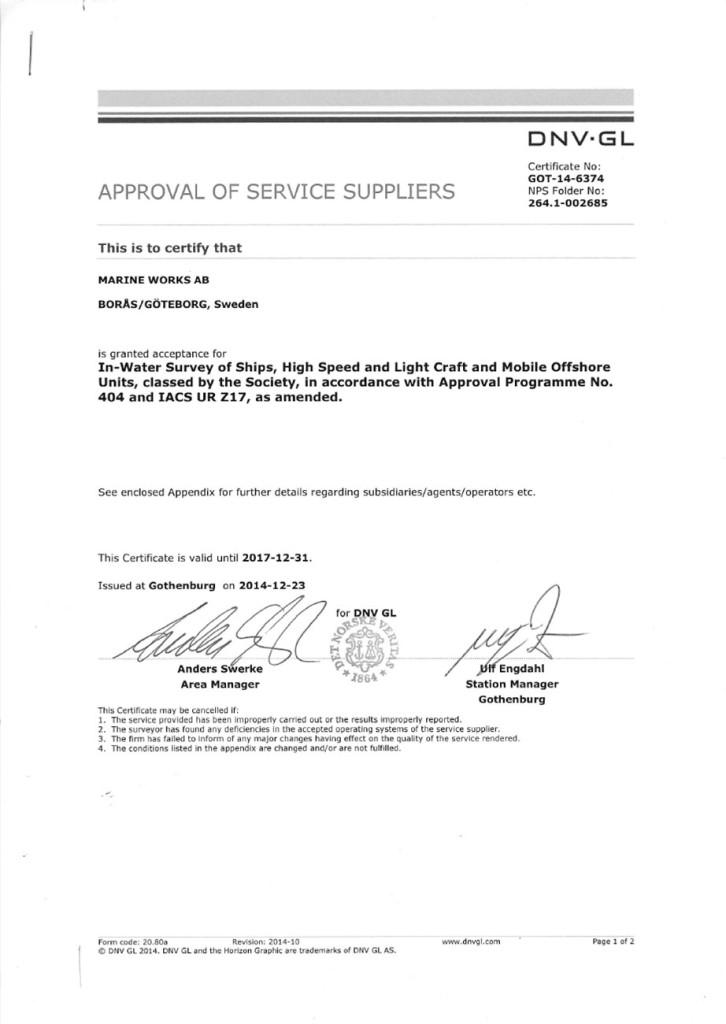DNV-GL-approval