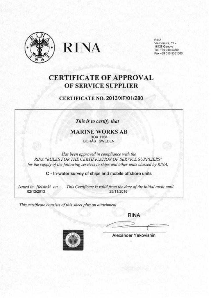 RINA-approval